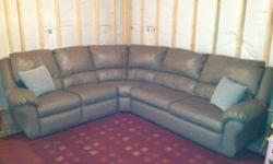 $1,200 Lightly Used Leather Sectional (3-piece)
