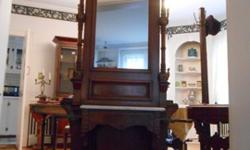 $1,200 OBO Antique Victorian Marple Top Hall Tree w/Brass