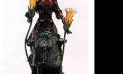 $1,200 Red Riding Hood Bronze Sculpture Lamp - a. Moreau