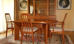 $1,200 Teak Dining Table/Chairs -Skovby,Danish,Mid-Century
