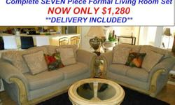 $1,280 Stunning Seven Piece Formal Living Room Set