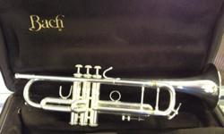 $1,295 Used Bach Strad 180-37 Silver Trumpet