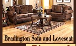 $1,299 Bradington Sofa and Loveseat