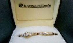 $1,400 14kt Yellow Gold Ladies Engagement Ring and Wedding