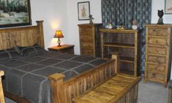 $1,425 Solid Pine Distressed King/Queen Bedroom Set and More