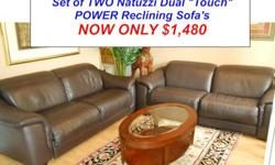 "$1,480 Natuzzi ""Touch"" Power Reclining Sofa Set"