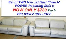 $1,480 Stunning Dual Power Reclining Sofa Set by Natuzzi