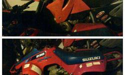 $1,500 250 sx dirt bike and suzuki 230 quad runner 4 wheeler