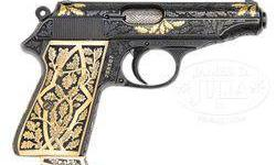 $1,500 Exceptional Engraved and Gold Inlaid Pre War Walther