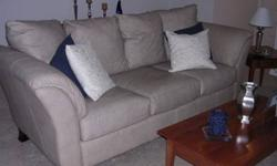 $1,500 Leather Sofa, Loveseat and Chair Set