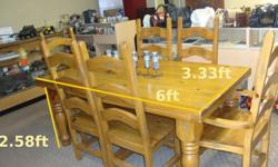 $1,500 OBO Antique Colonial Style 6 Seat Medium Tone Oak