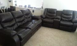 $1,700 OBO Ashley Revolution Leather Reclining Sofa and