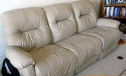 $1,800 Recliner Sofa & Loveseat - Italian Leather - Made in