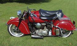 1 9 4 8 Indian Chief & Sidecar