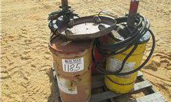 (1) Air/Grease Pump W/3 Barrels of Grease