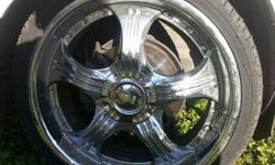 "$1 OBO 4 20"" Chrome Wheels"