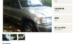 2002 Isuzu Trooper 1 owner starts but stalls trade for
