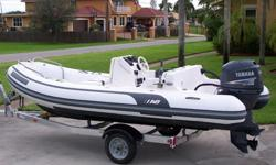 2005 AB Inflatable Boat 15 Feet - Yamaha 60hp 4-Stroke