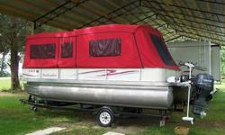 ?2006-Beachcomber-22-Ft-Pontoon-Boat-With-Motor-Trailer?