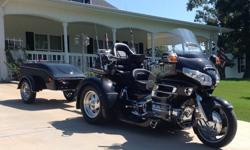 2007 Black Honda GL8 Trike with 2011 Trailer