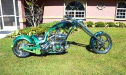 2007 Custom Gatorz Softail Chopper with Free Shipping