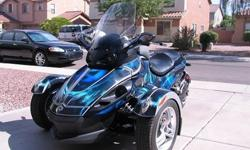 2008 Can-Am Spyder BLUE may