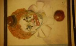 $200 Clown oil painting