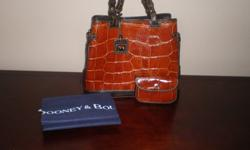 $200 Genuine Dooney & Bourke Croco Embossed Leather Tote
