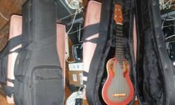 $200 (Help Please) Acoustic-Electric Soprano Ukulele & Case