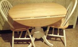 $200 Kitchen drop leaf table and 4 chairs