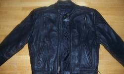 $200 Mens Size 42 Leather King Riding Jacket