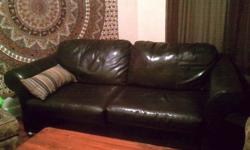 $200 OBO Black leather couch