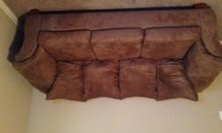 $200 OBO Gently Used Tan Microfiber Couch for sale