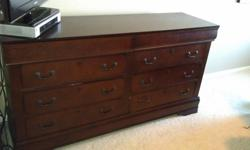 $200 OBO Solid Oak Brown Dresser