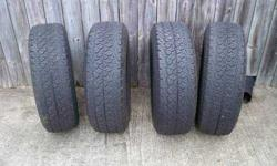 $200 P 245/65R 17 (4) Matched set of BF Goodrich T/A'S with