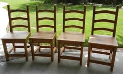 $200 Pine Ladder Back Chairs