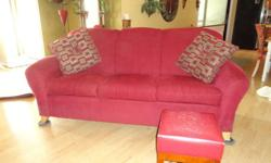 $200 Red Couch- Made by Englander/LazyBoy
