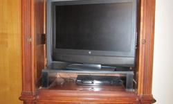 $200 Solid Cherry entertainment armoir