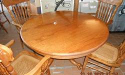 $200 Solid Oak Table + Chairs (Brandenburg KY)