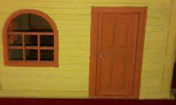 $200 vintage large doll house all made of wood,so