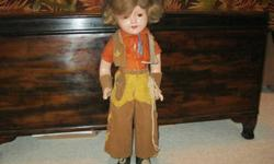 $200 Vintage Shirley Temple-Like 1940s Carnival Prize Doll