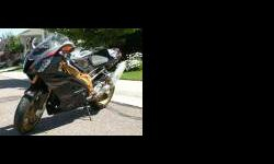 $20,000 2007 Aprilia RSVR Factory Dark Lion