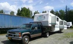 $20,900 96 35' 5th wheel w/1 ton 4x4 truck