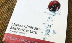 $20 Acceptable Condition Basic College Mathematics (3rd