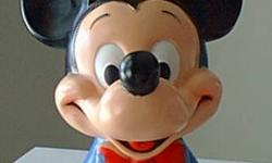 $20 Disney Mickey Mouse Head Bank 1971 Large Wdp
