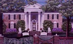 "$20 Elvis home--""GRACELAND"" great art print"