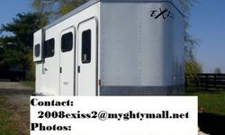210#003YHC932 2008 Exiss 2 Horse trailer wbumperpull