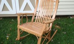 $210 OBO Brand new Amish made oak bentwood rocker