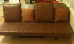 $222 OBO Designer Leather Couch : ONE-OF-A-KIND : Adjustable