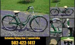 $225 1956 Schwinn Flying Star woman's bike beautiful